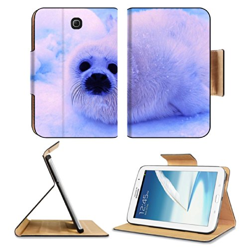 Animal Wildlife Seal Snow Cute White Furry Baby Samsung Galaxy Note 8 Gt-N5100 Gt-N5110 Gt-N5120 Flip Case Stand Magnetic Cover Open Ports Customized Made To Order Support Ready Premium Deluxe Pu Leather 8 7/16 Inch (215Mm) X 5 11/16 Inch (145Mm) X 11/16 front-994939