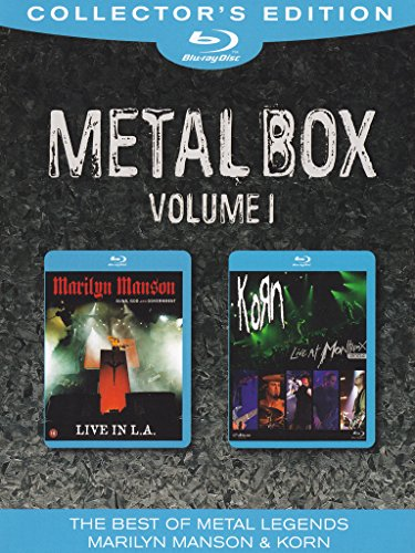 Metal box - Marilyn Manson - Guns, God and government - Live in L.A. + Korn - Live at Montreux 2004 (collector's edition) Volume 01