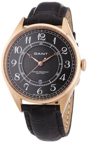 GANT W70473 - Orologio da polso uomo, pelle, colore: marrone