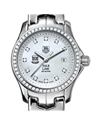 Yale University TAG Heuer Watch - Women's Link Watch with Diamond Bezel