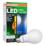 SYLVANIA ULTRA 3-WAY LED Light Bulb 40/60/100W Replacement, Daylight 5000K, 25,000 hour life - A21, E26 Medium Base, 74086 - Energy Star (5/8/15W)