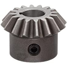 "Boston Gear HL146YP Bevel Gear, 1.5:1 Ratio, 0.375"" Bore, 16 Pitch, 16 Teeth, Steel"