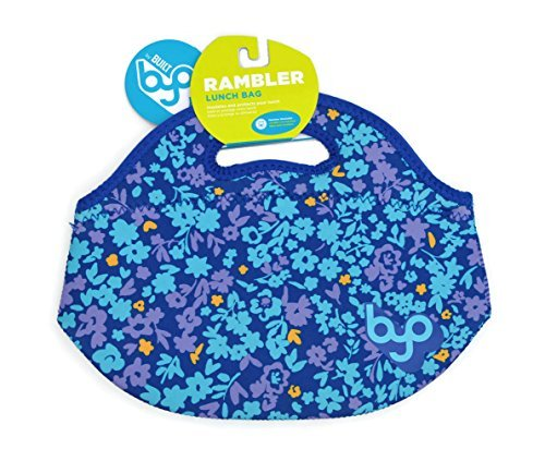 BYO By Built Rambler Lunch Bag Turquoise Blue Yellow Floral Bliss - 1