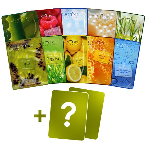 Korea's Puretree Face Essence Mask 10pcs Set
