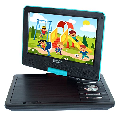 "Buy Cheap Cinematix 70169 9"" Portable DVD Player (Turquoise)"