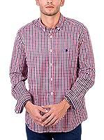 POLO CLUB Camisa Hombre Maverick Pure (Azul / Rojo)