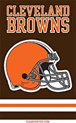 "Cleveland Browns Applique Embroidered Banner Flag 44""x28"" NFL Football Fan Shop Sports Team Merchandise"