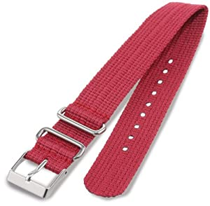 Timex T7B912 Weekender 20mm Berry Nylon Slip-Thru Watch Strap