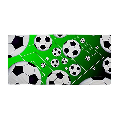 Beach Towel Modern Soccer Field Design 30 x 60 Inches Machine Washable, Perfect for College Dorm, Pools, Gyms, Beaches, Locker Rooms, Bathroom Shower Wrap, Beach Wrap, Bath Wrap, Spa Wrap (Bubble Wrap 100 Square Feet compare prices)