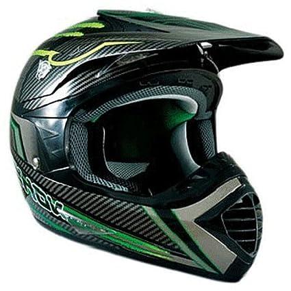 Casque moto cross CHOK ENERGY 14 - Carbone / Vert