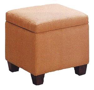 tan microfiber storage ottoman foot stool