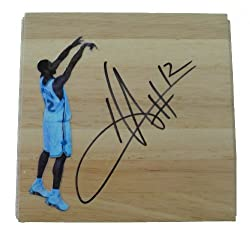 Hilton Armstrong Autographed New Orleans Hornets Photo Floorboard, Proof Photo