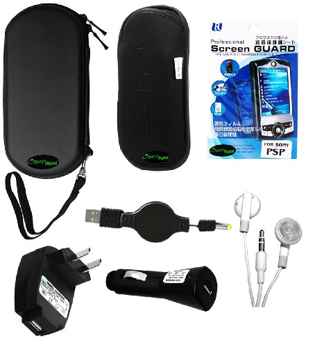 PSP 3000 7 Items Accessory Bundle - (Lifetime