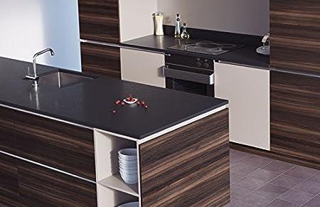 Egger Premium Black Effect Kitchen Bathroom Laminate Worktop Offcut Work Surface 25mm Breakfast Bar - 3m x 1200mm x 8mm Splashback
