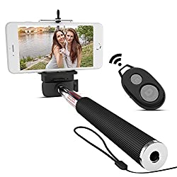 Mazichands Bluetooth Selfie Stick for iPhone 6, 6 plus, 5 5s 5c, Galaxy s6 edge s5 s4, Android Smartphone & Camera - Extendable Wireless Selfies/Selfy Best Sticks(Monopod) w/ Universal Cell Phone Mount