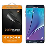 Supershieldz 0.3mm Tempered Glass Screen Protector with Anti-Scratch, Anti-Fingerprint, Bubble Free -Crystal for Samsung Galaxy Note 5 - Retail Packaging