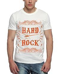 Adro Men's Round Neck Cotton T-Shirt (White)