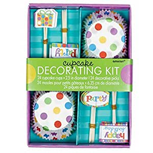 Cake Decorating Kit Of The Month : Amazon.com: Amscan Happy Birthday Cupcake Decorating Kit ...