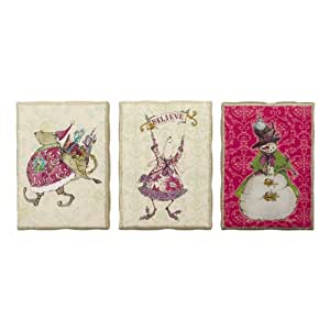 Christmas d cor from department 56 crumpets animals 5x7 for Christmas wall art amazon