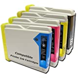4PK Brother Black ink LC970 LC1000 Set of 4 Brother Compatible Ink Cartridges for Brother DCP-130C DCP-135C DCP-150C DCP-153C DCP-157C DCP-330C DCP-350C DCP-540CN DCP-560CN DCP-750CW DCP-770CW MFC-235C MFC-260C MFC-5860CN MFC660CN MFC-240C MFC-665CW MFC-