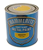 Hammerite 5084874 Metal Paint: Smooth Yellow 250ml: Amazon.co.uk: Car & Motorbike