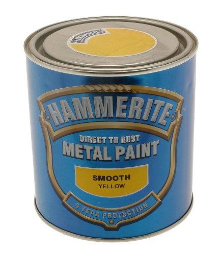 ICI Hammerite 5092874 750ml HM Smooth Metal Paint - Yellow