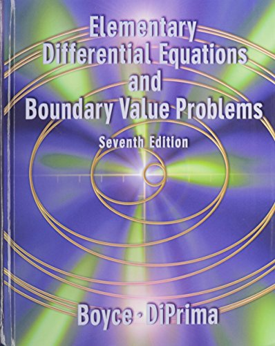 Ordinary Differential Equations & BV Problems 7E with Maple Manual for Differntial Equations 2E and Student Survey S