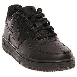 Nike Kids Force 1 (PS) Black/Black/Black Basketball Shoe 1 Kids US
