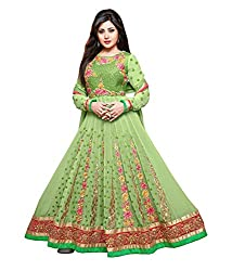Monalisa Fabrics Women's Unstitched Dress Material (2253102_Green _Free Size)