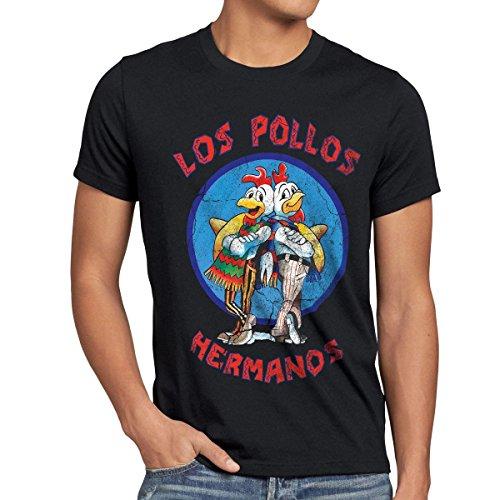 style3-Los-Pollos-Camiseta-para-hombre-T-Shirt