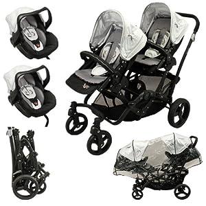 Looping Black Emotion - Silla de paseo y 2 sillas de coche G0+ de Looping - BebeHogar.com