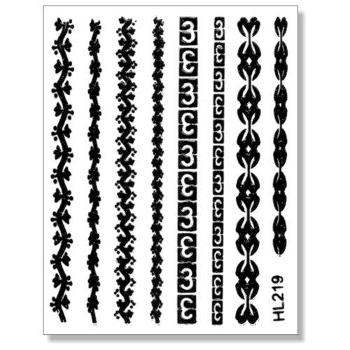 3D Sticker Borten schwarz 203-15 selbstklebende 3D-Borten