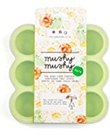 Baby Food Storage by Mushy Mushy, 9 Easy To Remove Pots, Durable BPA free Silicone Freezer Trays with Recipe eBook, Great Container for weaning, Lifetime Guarantee