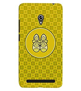 PRINTVISA Abstract Yellow Ladies Footwear Case Cover for Asus Zenfone 6 A600CG