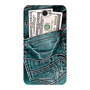 Enticing Money Money Colorful Jeans Back Case Cover for Sony Xperia E4