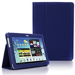 SupCase Slim Fit Folio Leather Tablet Case Cover for 10.1-Inch Samsung Galaxy Tab 2, Sapphire Blue (S5113-62A-SB)