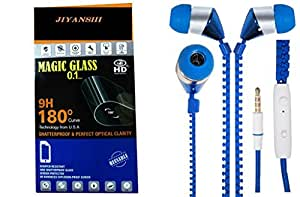 JIYANSHI combo of unbreakable screen guard & earphone bluein ear. Compatible for Micromax Canvas Selfie 3 Q348