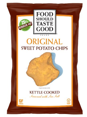 Food Should Taste Good Chips, Kettle Sweet Potato, 4.5 Ounce (Pack of 12)