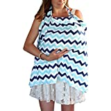 Ilena Premium Baby Breastfeeding Nursing Cover - Multi use, Safe and Comfortable Blanket - Sold with Carry Bag
