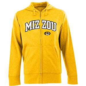 Antigua Mens Missouri Tigers Full-Zip Hooded Applique Sweatshirt by Antigua