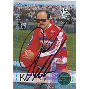 Keller Auto Racing on Jason Keller Autographed Hand Signed Trading Card  Auto Racing  1996
