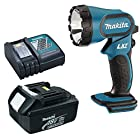 Makita BML185 LXT 18V Lithium-Ion Flashlight with BL1830 3.0 Ah Battery, Charger