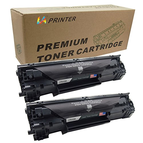 2 Pack Replacement CE278A 78A Black Toner Cartridge for LaserJet Pro M1536dnf and P1606dn Laser Printers