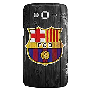 FC Barcelona Wooden Texture Hard Back Case for Samsung Galaxy Grand i9082