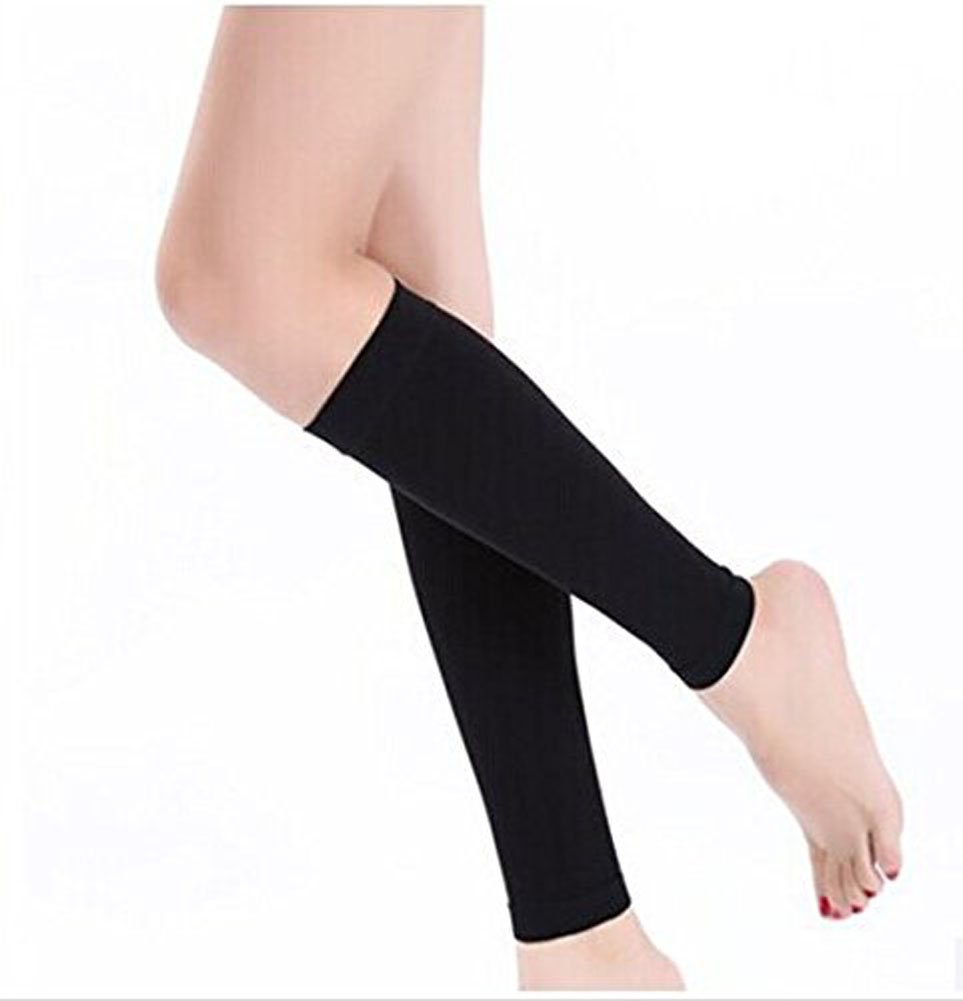 Fletion 1 Paar Damen Calf Elastic Stretch Atmungsaktiv Sleeves Beinwickel Sleeves Knie Sleeves Bein Shaper Compression Socks