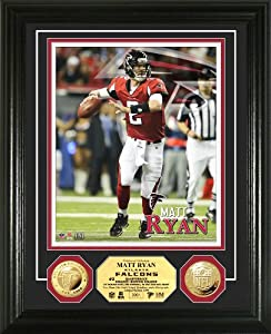 NFL Atlanta Falcons Matt Ryan Gold Coin Photo Mint by Highland Mint