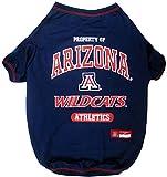 Collegiate University of Arizona Wildcats Dog Tee Shirt, Small
