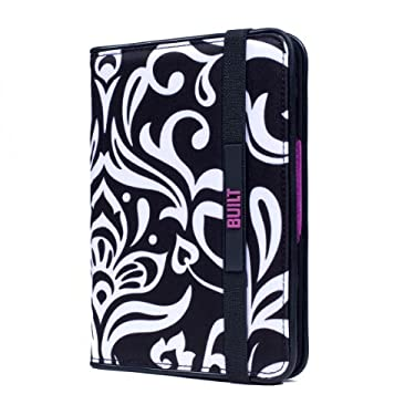 BUILT Kindle Slim Folio Cover for Kindle and Kindle Paperwhite, Damask Design