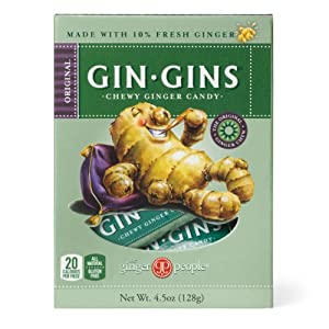 Gin-Gins Original Chewy Ginger Candy 4.5 oz (Pack of 3)