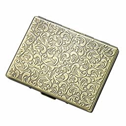 New Scale ® Gold Single Sided Cigarette Cigar Card Case for 9 - Premium High Quality Guaranteed